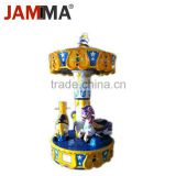 3 seats swing musical kiddie ride fiberglass toys coin operated token kiddie ride arcade machine carousel for sale
