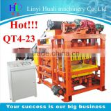 Most profitable products,QT4-23 hollow block machine,low investment high profit business export to south africa