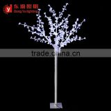 White Osaka Cherry Blossom 480 LEDs Christmas Light Tree 250mm with steel pipe + white PU plastic trunk