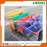wholesale supermarket nylon reusable foldable folding vegetable shopping cart trolley bag
