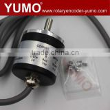 ISC3806 6mm 360ppr ABZ phase 5V 12V push pull Bottom outlet Solid shaft incremental rotary encoder copper sensor