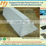 Automotive China manufacture PO resin white hotmelt adhesive glue stick for sound proof cotton and wire