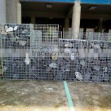 Galvanized or Galfan metal wire gabion box/cage/basket for sale,hexagonal mesh welded gabion retainning wall with cheap price
