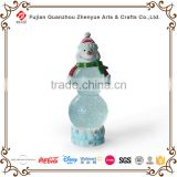 Polyresin Cute Snowman Customized Christmas Glass Snow Water Ball Decoration Resin Unique Shape Snowman Snow Globe
