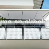 2015 newest design balcony terrace Full Cassette polycarbonate manual retractable awning price
