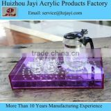 JYTH-001Chinese supplier wholesale acrylic traditional tea tray/plexiglass tea set stand