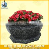Black granite flower pot,stone garden flower pots