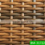 brown color half moon flat pvc wicker BM-31722 use for outdoor table sets