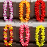OEM Multi-colored Hawaiian Flower Wreath for Party Bouquet Fake Flower Garland DIY Plastic Flowers