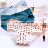 Cotton boxer ladies underwear manufacturers pineapple printed grid cute panties E7