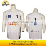 Wholesale basketball jersey clubs basketball uniforms basketball jerseys white and yellow color