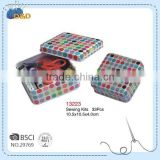 D&D Multipurpose Organizor For Home or Travel Square Sewing Tin Box Sewing Kit