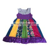 Yawoo smocked sleeveless patchwork dress fashion for kids girls 1 year baby girl dresses