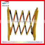 yellow folding traffic barrier/plastic road retractable traffic barrier