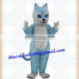 Custom Cute Blue Cat Mascot Costume Adult Size Theme Carnival Party Cosply Mascotte Outfit Suit Fancy Dress