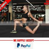 100% cotton gym wear for girls wholesale
