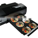SLJET industrial cd dvd label flatbed inkjet printer printing machine for sale