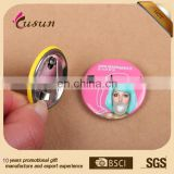 Promotion metal tin button badge 50mm Custom button badge with safety pin