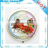 customized wholesale home decoration wedding souvenir compact mirror