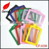Factory supply good quality leather name ID card holder