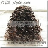 Factory price hotsale double drawn unprocessed malaysian kinky curly hair