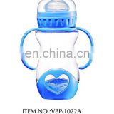 250ml wide neck pp baby bottle witn straw