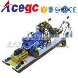 Price of china sand/gold bucket chain dredger machine for sale