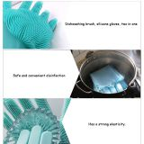 Magic Reusable Silicone Gloves with Cleaning Scrubber, Great for dish wash, Cleaning whatsapp: +8615992856971