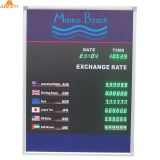 6 Rows and 1 Column Exchange Rate Display Board indoor led gold rate display exchange rate number board Green