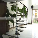 save space spiral stainless steel indoor steel stairs