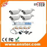 4pcs 700TVL outdoor CMOS Cameras IR Night Vision security Surveilance CCTV system ip camera kit