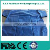 SMS Disposable hospital uniform blue medical antistatic scrub suits