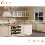 Natural style European standard solid wood kitchen cabinet,aprons kitchen