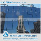 Profiled steel structure sheet glass curtain wall