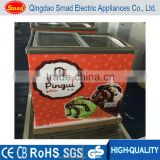 wholesale top glass display chest freezer double glass door freezer ice cream display freezers price
