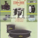 BLACK Flange Round RUBBER EXPANSION JOINT