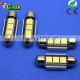 Factory supply high quality12V 5050 3SMD canbus 33mm 36mm 39mm white led motorcycle/car door light