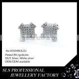 925 sterling silver jearring stud fashion in Franch romantic earring with cubic zirconia stud earrings screw back