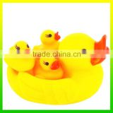 Plastic Mini Duck Yellow Small Duck Bath Toy for Kids