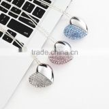 Heart-shaped Jewelry USB Flash Disk, Heart Shape Crystal USB Flash Drive