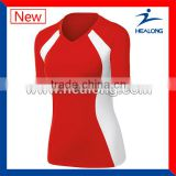 100% polyester high quality red volleyball jersey