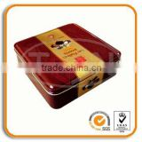 elegant Square Mooncake tin box