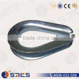 Rigging Hardware Electric Galvanized C1045 Drop Forged U.S. Type Standard G414 Wire Rope Thimble