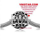 Vnistar new hottest European copper alloy beads, copper flower blossoms shape beads for bracelet CEB002