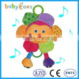 Babyfans Cute Flower Soft Plush Toys Custome Pull String Doll High Quality Baby Musical Toys
