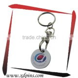 keyring Supermarket Shopping cart chip trolley token coin keychain