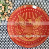 Novelty Round Toughened Glass Plate