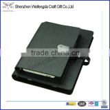 Factory custom gift business leather notebook with powerbank and U disk
