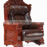 2015 luxury leather office chair Black High Back Executive Boss Leather Office Chair