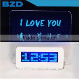 2016 New Design Promotional Multi-functional Music Digital LED Memo Message Board Alarm Clock with Countdown & Countup Timer